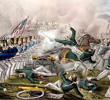 Battle of Churubusco--Fought near the city of Mexico - 1846 - Currier & Ives by CrankyOldDude