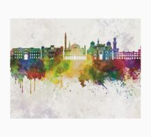 Alexandria skyline in watercolor background Kids Clothes