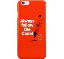 Dexter 'Always Follow The Code!' iPhone Case/Skin