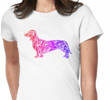 Dachshund Pink Womens Fitted T-Shirt