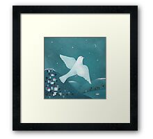 white pigeon Framed Print