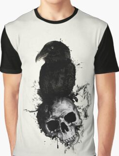 Raven and Skull Graphic T-Shirt