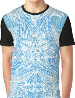 brown blue Graphic T-Shirt