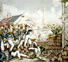 Battle of Monterey--The Americans forcing their way to the main plaza - 1846 - Currier & Ives by CrankyOldDude