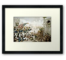 Battle of Monterey--The Americans forcing their way to the main plaza - 1846 - Currier & Ives Framed Print