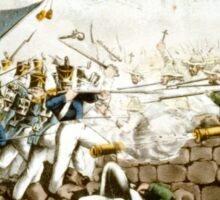 Battle of Monterey--The Americans forcing their way to the main plaza - 1846 - Currier & Ives Sticker