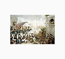 Battle of Monterey--The Americans forcing their way to the main plaza - 1846 - Currier & Ives Unisex T-Shirt