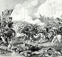 Battle of Pea Ridge, Arkansas - 1862 - Currier & Ives by CrankyOldDude