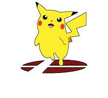 Pikachu - Super Smash Bros Melee Photographic Print