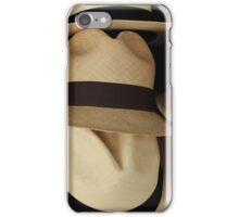 Straw Hats in Beige iPhone Case/Skin