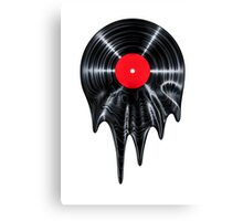 Melting vinyl Canvas Print