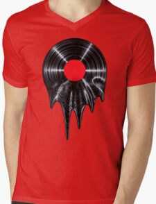 Melting vinyl Mens V-Neck T-Shirt