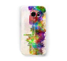 Siena skyline in watercolor background Samsung Galaxy Case/Skin