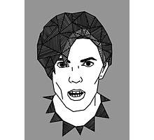 Geometric David Bowie Photographic Print