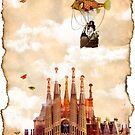 Flight over my castle by amira