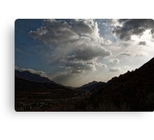 clouds over mongolia Canvas Print