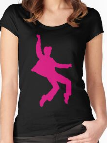 Pink Elvises Women's Fitted Scoop T-Shirt