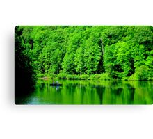 Fishing on Chris Green Lake    ^ Canvas Print