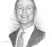 corporate executive drawing by Mike Theuer