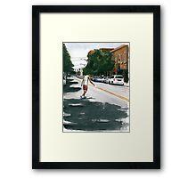 Trade St. Skater Framed Print