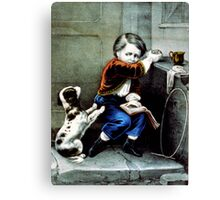 Begging a bite - 1907 - Currier & Ives Canvas Print