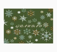 To Grandad At Christmas Greeting With Snowflakes  One Piece - Long Sleeve