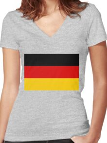 Flag of Germany Women's Fitted V-Neck T-Shirt