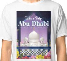 Abu Dhabi travel poster Classic T-Shirt