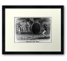 Bending her beau - 1880 - Currier & Ives Framed Print