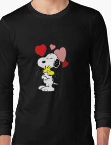 hug valentine snoopy peanut Long Sleeve T-Shirt