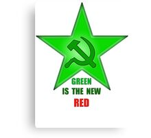 Green Is The New Red Canvas Print