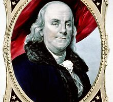 Benjamin Franklin - The statesman and philosopher - 1847 - Currier & Ives by CrankyOldDude