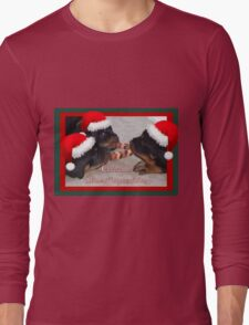 A Time Of Joyous Giving Greeting Vector Long Sleeve T-Shirt