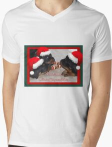 A Time Of Joyous Giving Greeting Vector Mens V-Neck T-Shirt