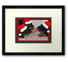 A Time Of Joyous Giving Greeting Vector Framed Print