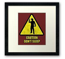 "Freddy Krueger ""Caution Don't Sleep"" Framed Print"