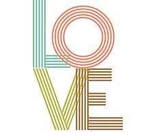 LOVE - typography Photographic Print