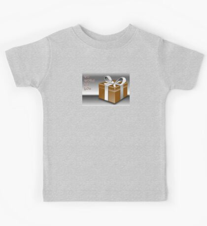 A Gold Wrapped Gift Box To Both Of You Kids Tee