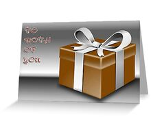 A Gold Wrapped Gift Box To Both Of You Greeting Card