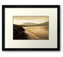 Staffin Beach at Dusk Framed Print