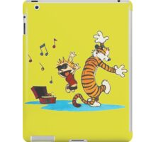 calvin and hobbes dancing with music iPad Case/Skin