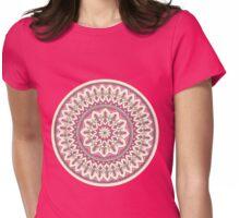 Hand Drawn Cream And Pink Pretty Mandala  Womens Fitted T-Shirt