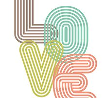 LOVE - Typography by Easyposters2