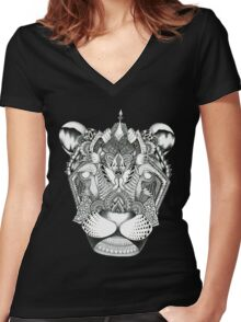 Magical Monochrome Women's Fitted V-Neck T-Shirt