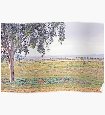 Rolling hills on the horizon Poster