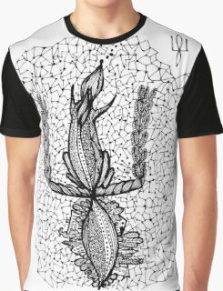 Doodle squirrel, Ukrainian symbol coat of arms Graphic T-Shirt