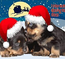 Puppy Christmas: I saw Mummy Kissing Santa Claus Vector by taiche
