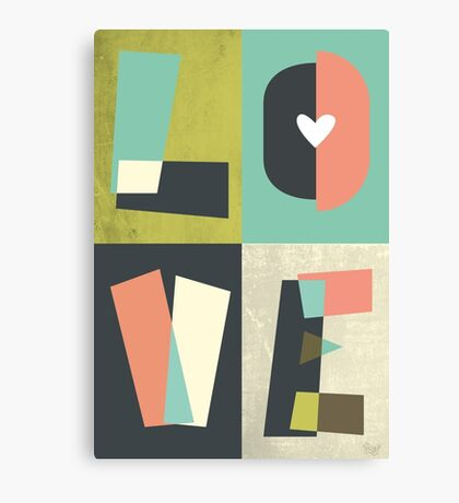 LOVE - typography full colour Canvas Print