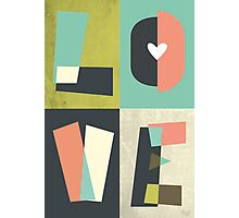 LOVE - typography full colour Photographic Print