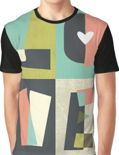 LOVE - typography full colour Graphic T-Shirt